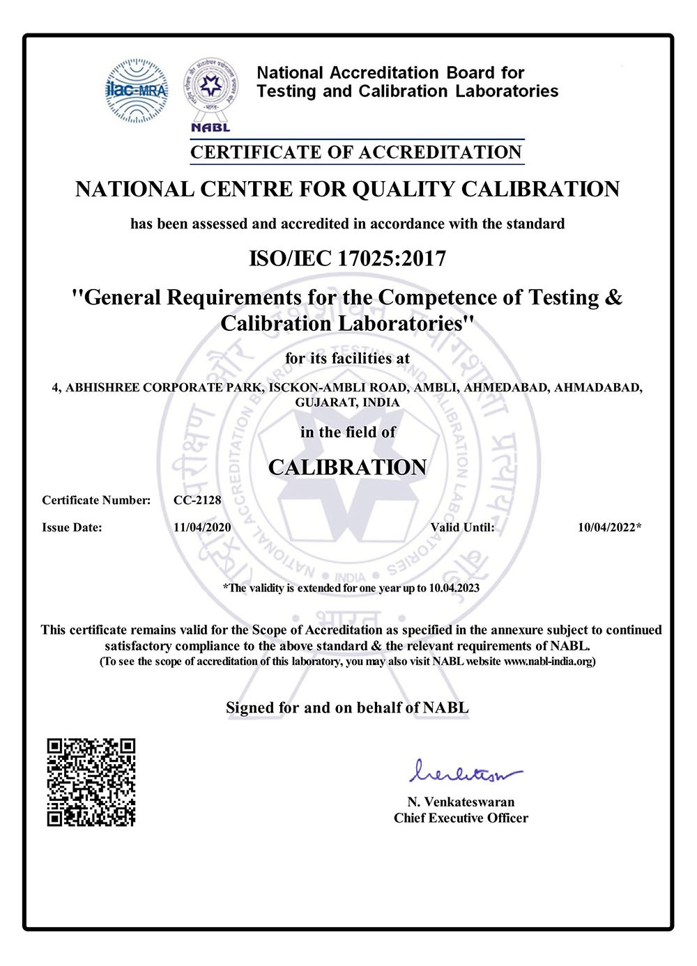 Calibration laboratory isoiec 17025 nabl accredited calibration nabl certificate ncqc calibration laboratory yadclub Image collections